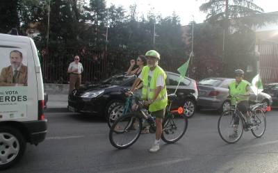 L@s Verdes hacen campaña en bici
